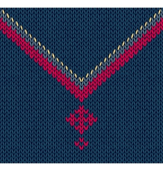 Knitted Pattern with Stylized Cross vector image vector image