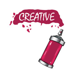 logo sprays with pink paint vector image vector image