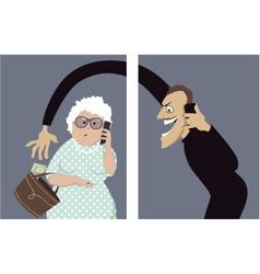 Phone scam targets seniors vector