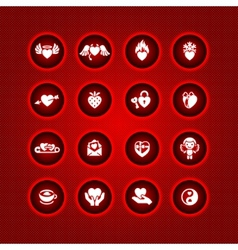 set valentines day icons symbols vector image vector image