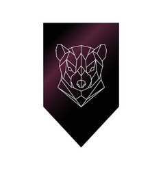 tasmanian devil polygonal head sign vector image