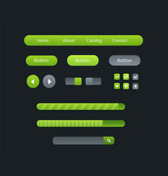 user interface set for website development vector image