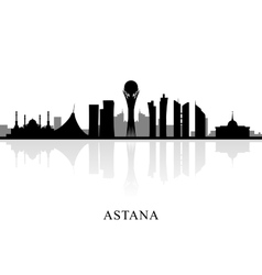 Astana skyline silhouette vector image vector image