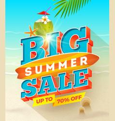 big summer sale design - summer vacation desiogn vector image vector image