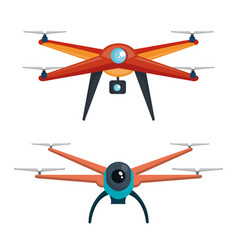 drone photography and video created with camera vector image