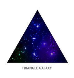 galaxy triangle background with stars vector image