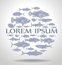 marine fish vector image
