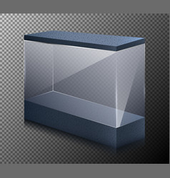 realistic of a empty showcase vector image