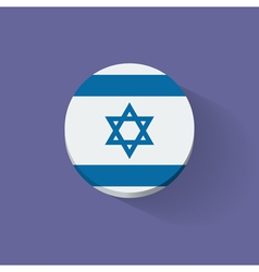 Round icon with flag of Israel vector image vector image