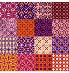 Set of classic bright geometric patterns vector image vector image