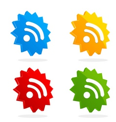 set of RSS icons vector image vector image