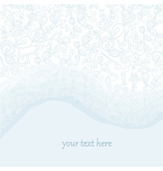 Tender wedding background with lace and watercolor vector image