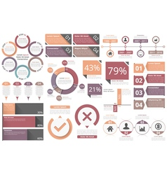 Infographic objects vector
