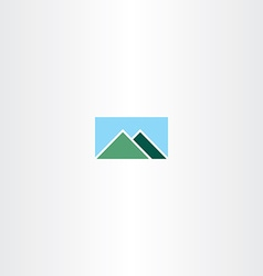 mountain and sky logo sign vector image