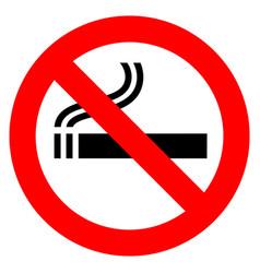 no smoking red sign vector image vector image