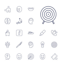 22 idea icons vector