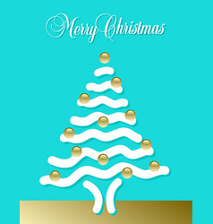 Abstract merry christmas tree vector