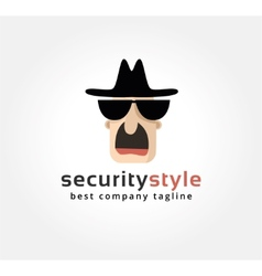 Abstract spy face logo icon concept logotype vector