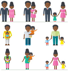 African american family vector