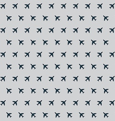 Airplane background pattern vector image