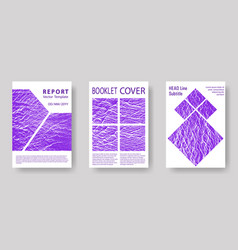 annual report covers design set vector image