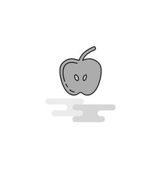 apple web icon flat line filled gray icon vector image