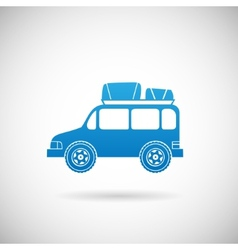 Auto travel symbol car icon design template vector
