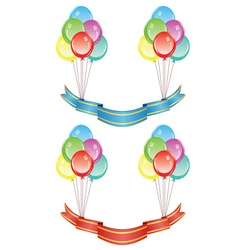 Balloons with Banners vector