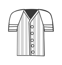 Baseball shirt icon vector
