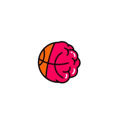 basketball brain logo icon vector image