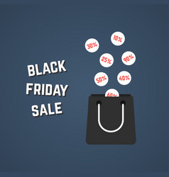black friday sale with falling prices vector image