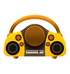 Boombox radio icon cartoon style vector