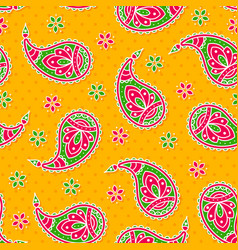Bright seamless with paisley pattern vector