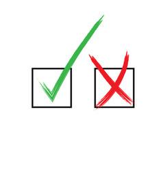 check mark x yes no icon graphic symbol vector image