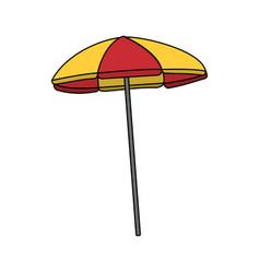 color image cartoon beach umbrella vector image
