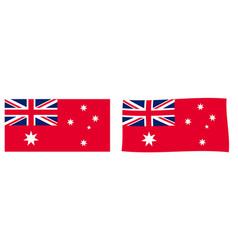Commonwealth australia civil flag variant vector