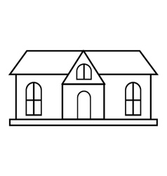 Cottage house icon outline style vector image