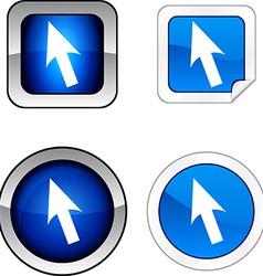 Cursor button set vector
