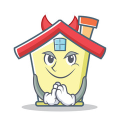 devil house character cartoon style vector image