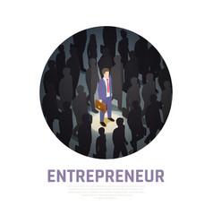 entrepreneur concept isometric composition vector image