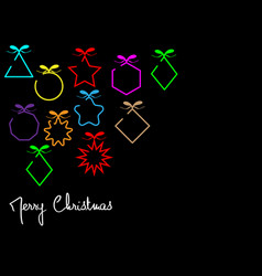 fashion banner colorful merry christmas balls vector image