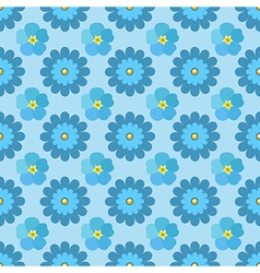 Flowers stylized chamomile forget-me-not seamless vector