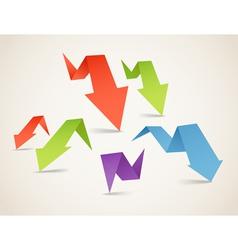 Folded arrows vector image vector image