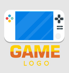 game logo video game background image vector image