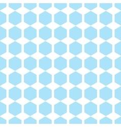 Geometric blue seamless patterns Hexagon vector
