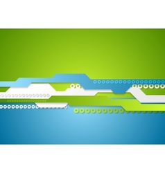 Green blue technology background vector