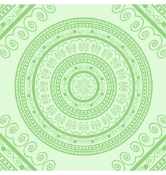 Green Circle Lace Ornament vector