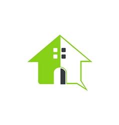 Green house abstract symbol logo vector