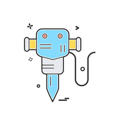 hammer jack labor icon design vector image