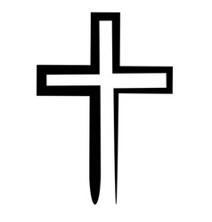 Hand drawn black grunge cross icon vector